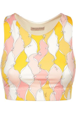Emilio Pucci Sustainable Tech Printed Crop Top