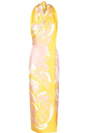 Emilio Pucci Women Printed Dresses - Silk Twill Printed Sleeveless Dress
