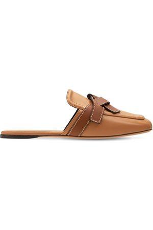 Loewe Women Sandals - 10mm Gate Leather Mules