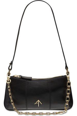 MANU Mini Pita Soft Leather Shoulder Bag