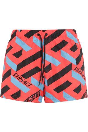 VERSACE Monogram Print Nylon Swim Shorts