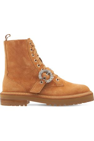Jimmy Choo Women Boots - 30mm Cora Suede Combat Boots