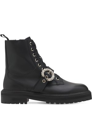 Jimmy Choo 30mm Cora Leather Combat Boots