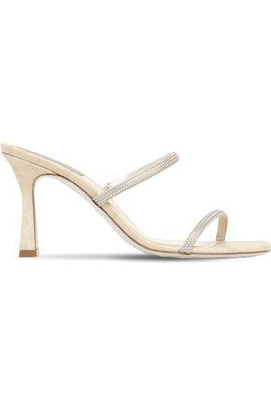 RENÉ CAOVILLA Women Sandals - 80mm Embellished Satin Mules