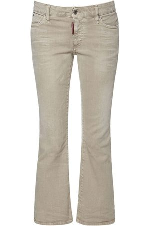 Dsquared2 Women Jeans - Cropped Bell Bottom Denim Jeans