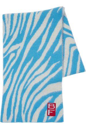 By Far Women Scarves - Zebra Alpaca Blend Knit Scarf