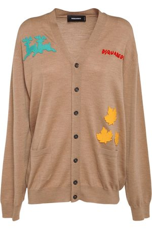 Dsquared2 Wool Knit Embroidered Cardigan
