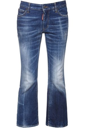 Dsquared2 Women Jeans - Cotton Denim Cropped Jeans