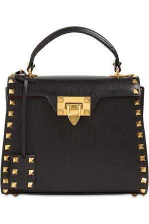 VALENTINO GARAVANI Small Rockstud Alcove Top Handle Bag