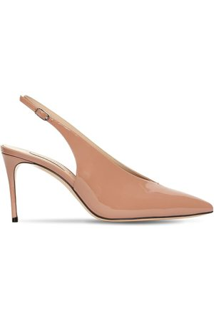 Casadei Women Heels - 80mm Julia Patent Leather Slingback Pump
