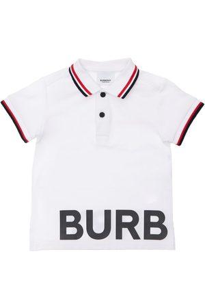 Burberry Boys Polo Shirts - Cotton Piquet Polo Shirt