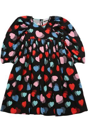 Stella McCartney Girls Printed Dresses - Heart Print Tencel Twill Dress