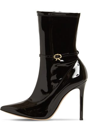 Gianvito Rossi Women Boots - 105mm Stretch Faux Patent Leather Boots