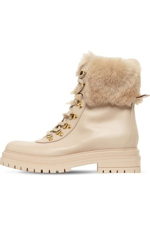 Gianvito Rossi Women Boots - 30mm Alaska Leather & Shearling Boots