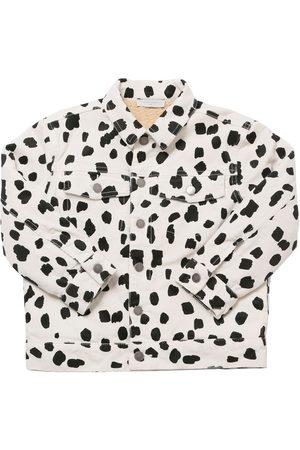 Stella McCartney Girls Jackets - Dalmatian Print Corduroy Cotton Jacket