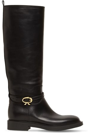 Gianvito Rossi Women High Leg Boots - 20mm Cavalier Tall Leather Boots