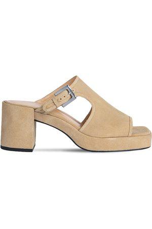 By Far Women Sandals - 80mm Melba Suede Mules