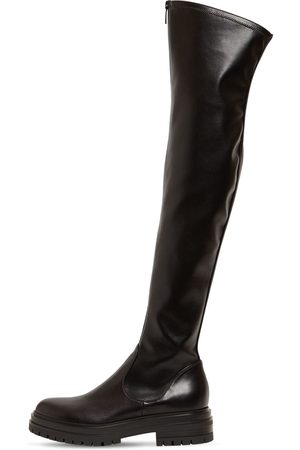 Gianvito Rossi 30mm Marsden Stretch Faux Leather Boots
