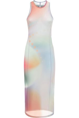 McQ Maxi Printed Mesh Long Dress