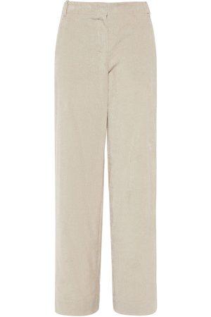Max Mara Ribbed Cotton Velvet Straight Leg Pants