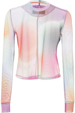 McQ Breathe Fitted Mesh Top