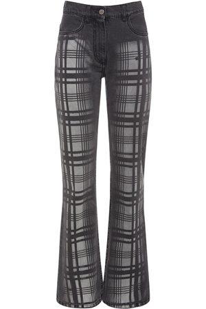 Alberta Ferretti Cotton Denim Straight Leg Jeans