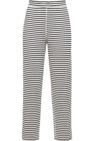 THEORY Women Trousers - Striped Cotton Jogger Pants