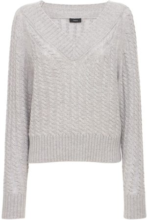THEORY Women Jumpers - V Neck Cashmere Knit Sweater
