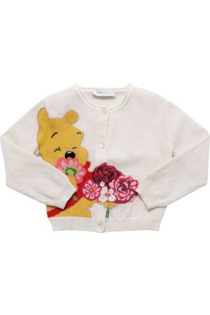 MONNALISA Winnie The Pooh Wool Knit Cardigan