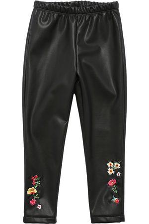 MONNALISA Girls Trousers - Faux Leather Leggings