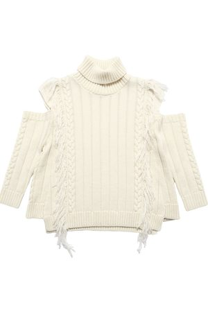 MONNALISA Girls Jumpers - Wool Blend Knit Sweater
