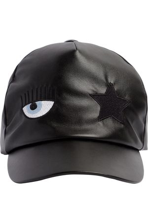 Chiara Ferragni Girls Hats - Flirting Eye Faux Leather Baseball Hat