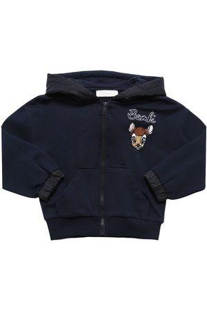 MONNALISA Bambi Print Cotton Sweatshirt Hoodie