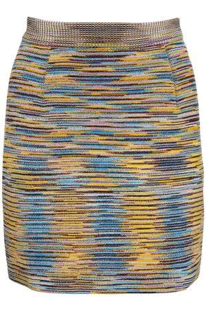 Missoni Women Knitted Dresses - Wool Blend Knit Mini Skirt