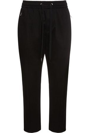 Dolce & Gabbana Logo Label Cotton Gabardine Jogging Pant