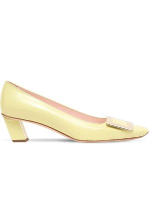 Roger Vivier Women Heels - 45mm Belle Vivier Patent Leather Pumps