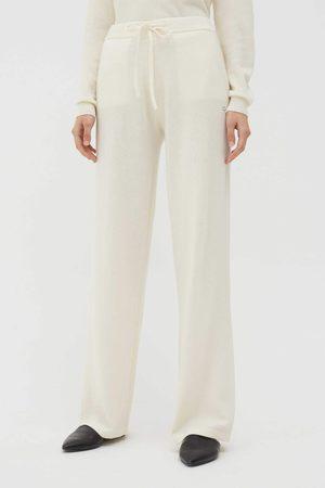 Chinti & Parker UK Cream Cashmere Wide-Leg Pants