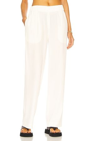 CO Elastic Waist Pull On Pant in Ivory