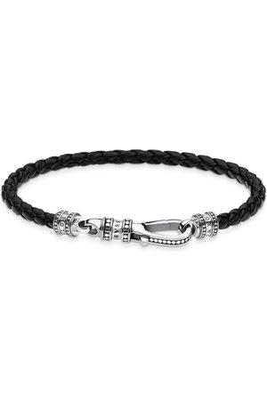 Thomas Sabo Mens Dark Leather 19cm Bracelet