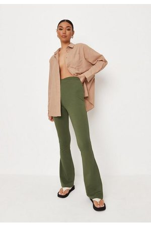 Missguided Cross Waistband Flared Trousers