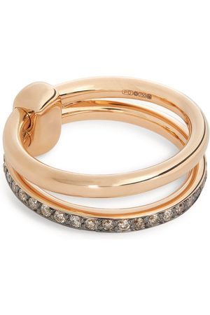 Pomellato Rose and Brown Diamond Iconica Band Ring (Size 45-60)