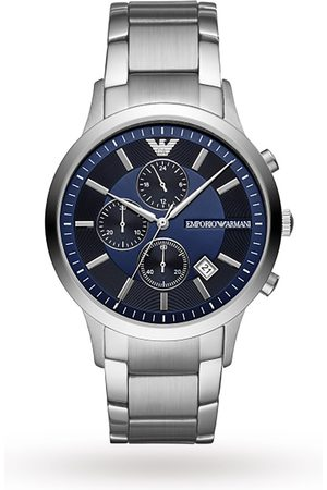 Emporio Armani Renato Stainless Steel and Blue Dial Gents Watch