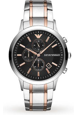 Emporio Armani Two Tone Chronograph Gents Watch