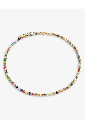 Missoma 18ct yellow -plated brass and imperial jasper necklace