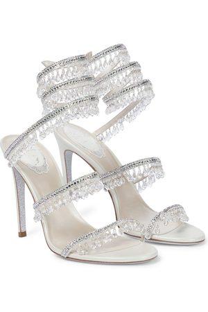 RENÉ CAOVILLA Women Sandals - Chandelier embellished leather sandals