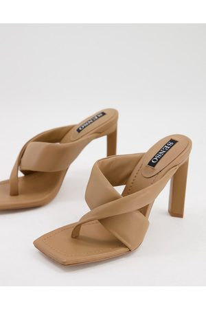 Senso Sofie I heeled sandals with crossover strap in butterscotch-Neutral