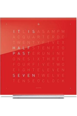 QLOCKTWO Touch Acrylic Table Clock - Cherry Cake