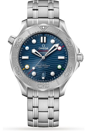 """Omega Seamaster """"Beijing 2022"""" Diver 300M Co-Axial Master Chronometer 42mm Mens Watch"""