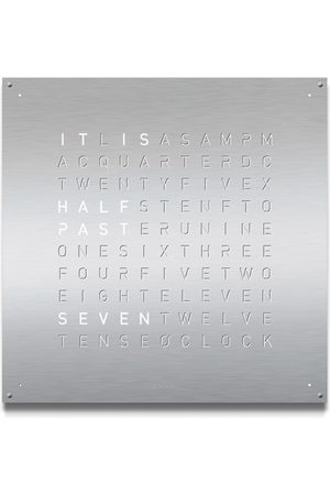 QLOCKTWO Large Stainless Steel Clock
