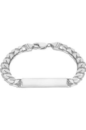 GOLDSMITHS Sterling Silver Mens 8.5 Inch ID Curb Bracelet